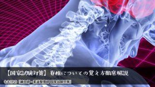 【国家試験対策】脊椎(頚椎・胸椎・腰椎)についての覚え方徹底解説